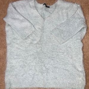 Matty M Women's mint color fuzzy sweater. Size Sm